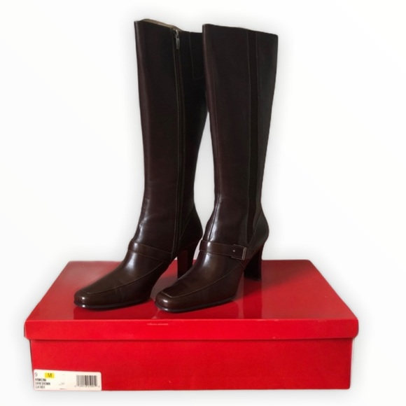 ANNE KLEIN Akmadina Tall Leather Boots